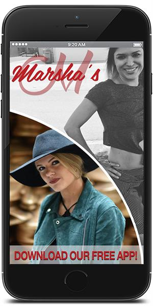 Stay in touch with Marsha's Clothing using their mobile application available for both Apple and Android