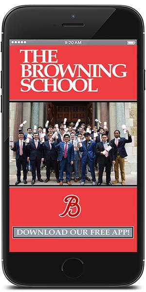 Stay connected to The Browning School using their mobile application available for both Apple and Android devices