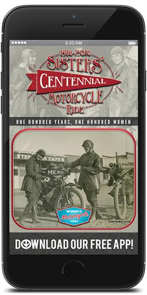 Official App for the Sisters' Centennial Motorcycle Ride