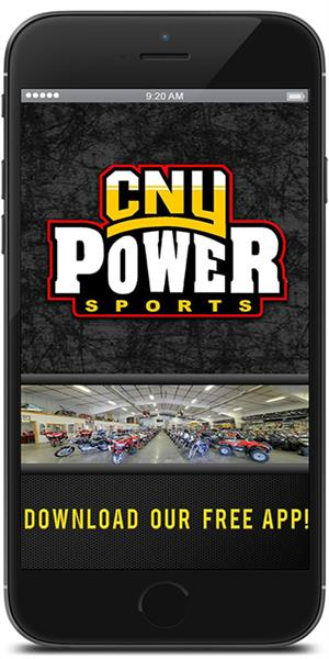Keep in touch with CNY Power Sports using their mobile application available for both Apple and Android