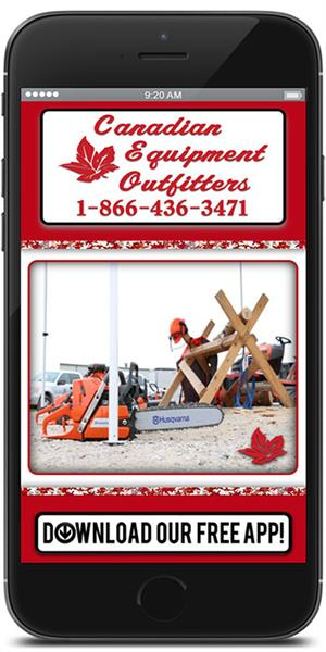 Stay in touch with Canadian Equipment Outfitters using their mobile application available for both Apple and Android