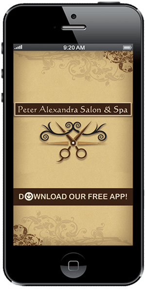 Keep in touch with Peter Alexandra Salon & Spa using their mobile application available for both Apple and Android