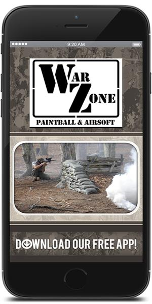 Download Warzone Paintball & Airsoft's' mobile application in the iTunes or Google Play store today