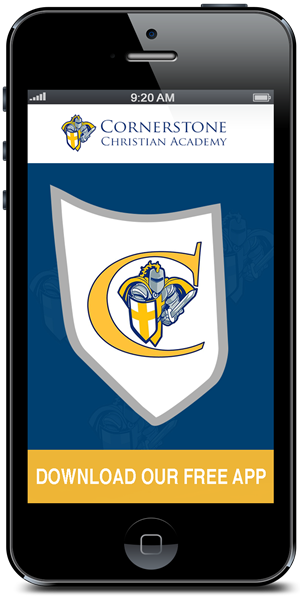 Stay connected to Cornerstone Christian Academy using their mobile application available for both Apple and Android devices
