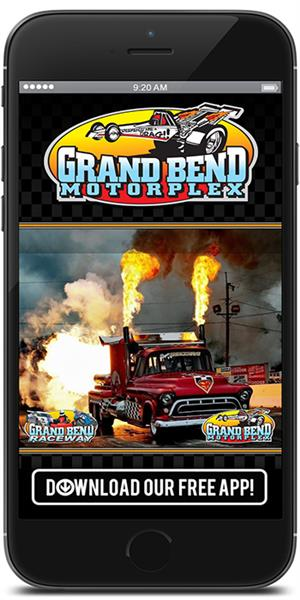 Stay on track with Grand Bend Motorplex using their mobile application available for both Apple and Android