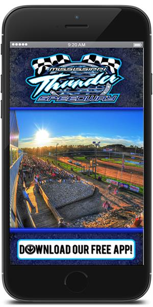 Stay on track with Mississippi Thunder Speedway using their mobile application available for both Apple and Android