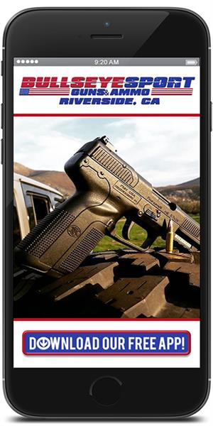 Stay in touch with Bullseye Sport Guns & Ammo using their mobile application available for both Apple and Android