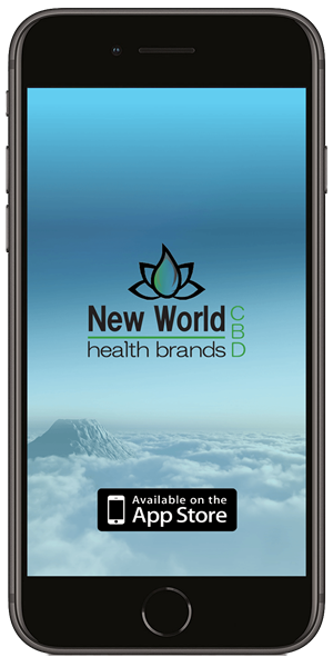 Stay in touch with New World Health Brands CBD using their mobile application available for both Apple and Android