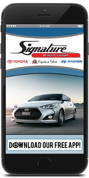 Keep in touch with Signature Dealer Group using their mobile application available for both Apple and Android