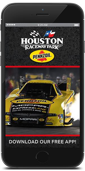 Stay on track with Houston Raceway Park using their mobile application available for both Apple and Android