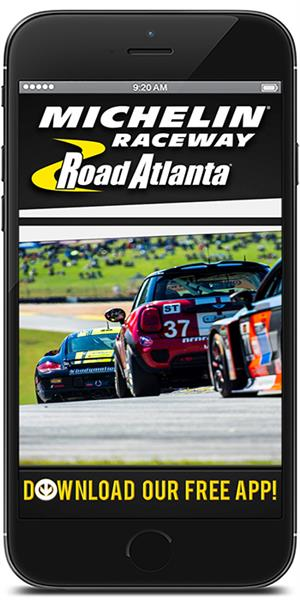 Stay on track with Michelin Raceway Road Atlanta using their mobile application available for both Apple and Android