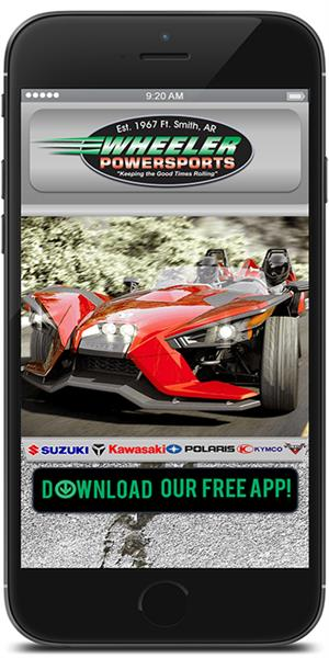 Stay in touch with Wheeler Powersports using their mobile application available for both Apple and Android