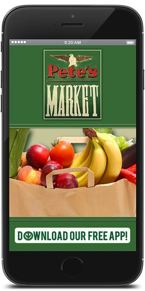 Stay connected to Pete's Market Narrowsburg using their mobile application available for both Apple and Android devices