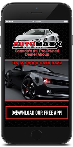Visit the iTunes or Google Play store to download the Automaxx Automotive mobile application