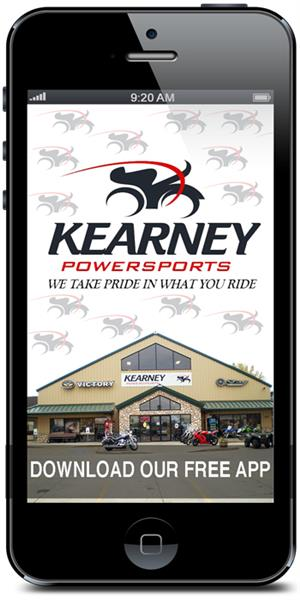 Kearney Powersports' Mobile Application is available in the iTunes and Google Play stores