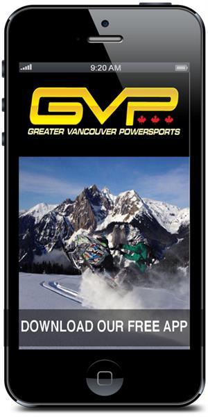 Greater Vancouver Powersports Mobile Application is available for download in the iTunes and Google Play stores