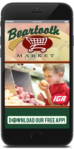 Stay connected to Beartooth Market IGA using their mobile application available for both Apple and Android devices