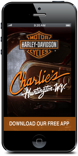 Stay in touch with Charlie's Harley-Davidson using their mobile application available for both Apple and Android
