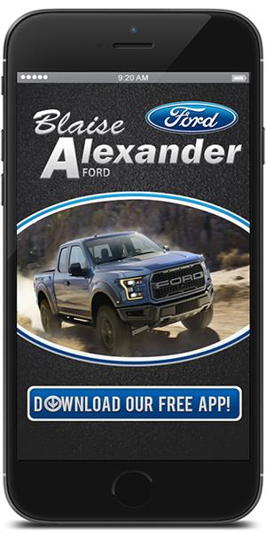 Go to the iTunes or Google Play store to download the Blaise Alexanader Ford mobile application