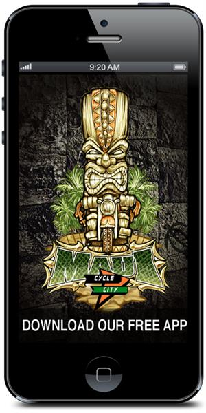 Download Cycle City Maui's Mobile Application from the iTunes or Google Play stores